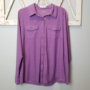XL eddie bauer travex button down shirt